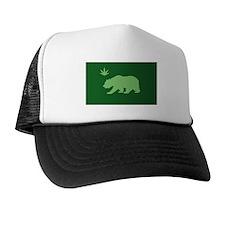 California Weed Flag Trucker Hat
