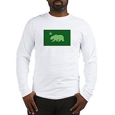 California Weed Flag Long Sleeve T-Shirt