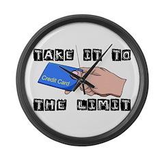 Credit Card Limit Large Wall Clock