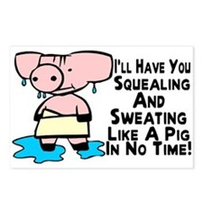 Sweating Like A Pig Postcards (Package of 8)