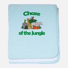 Chase of the Jungle baby blanket