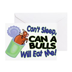 Can A Bulls Greeting Cards (Pk of 20)