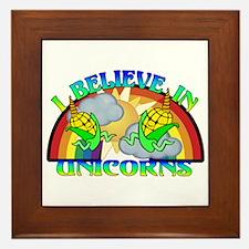 I Believe In Unicorns Framed Tile