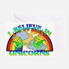 I Believe In Unicorns Greeting Card