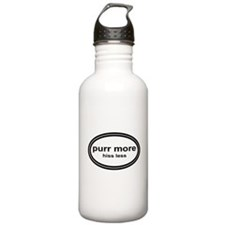 Cute Wag more bark less Water Bottle