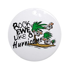 Rock Ewe Ornament (Round)