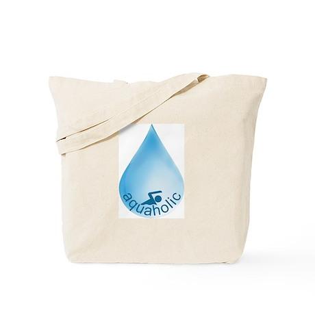 Aquaholic Swimmer Tote Bag
