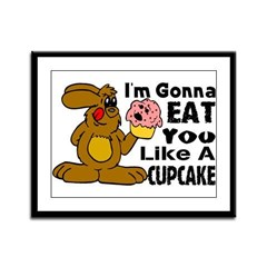 Eat You Like A Cupcake Framed Panel Print