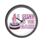 I Sing On The Cake Wall Clock