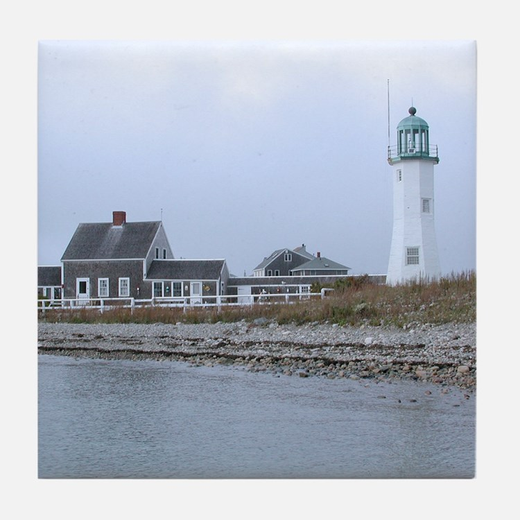 Old Scituate Lighthouse Tile Coaster