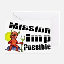 Mission Imp Possible Greeting Card