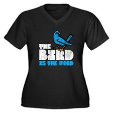 The Bird is the Word Women's Plus Size V-Neck Dark