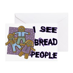 I See Bread People Greeting Cards (Pk of 20)