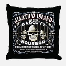 ALCATRAZ ISLAND BAD GUYS BOUR Throw Pillow
