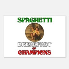 Spaghetti Breakfast of Champions Postcards (Packag