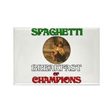 Spaghetti Breakfast of Champions Rectangle Magnet