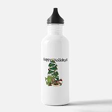 Frog Hoppy Holidays Water Bottle