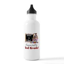 2nd Grade School is Cool Sports Water Bottle