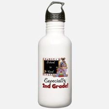 2nd Grade School is Cool Sports Water Bottle