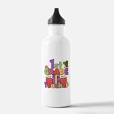 1st Grade Teacher Water Bottle