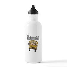 School Bus Kindergarten Sports Water Bottle