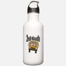School Bus 2nd Grade Water Bottle