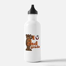 Loves 2nd Grade Water Bottle