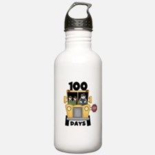 School Bus 100 Days Water Bottle