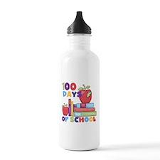 Books 100 Days Water Bottle