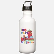 Books 100 Days Water Bottle