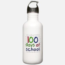 Numbers 100 Days Water Bottle