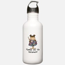 Blessed Are The Gardeners Water Bottle