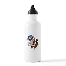 Sock Monkey Football Water Bottle