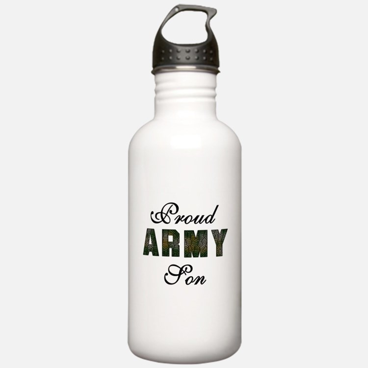 Proud Army Son Water Bottle