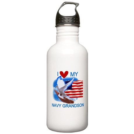 Love My Navy Grandson Stainless Water Bottle 1.0L