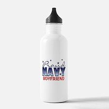 Proud Navy Boyfriend Water Bottle