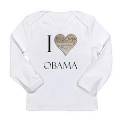 I Heart Obama Long Sleeve Infant T-Shirt