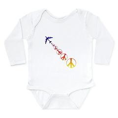 Make Peace Not War Theme Long Sleeve Infant Bodysu