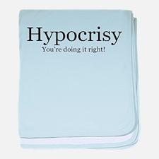Hypocrisy baby blanket