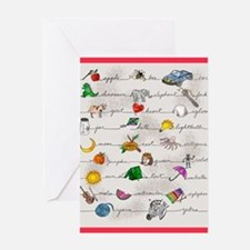 Illustrated Alphabet Greeting Cards