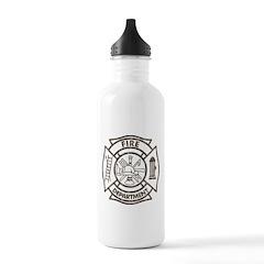 Vintage Firefighter Water Bottle