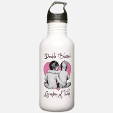 grandma of twins Water Bottle