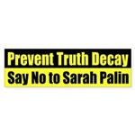 Prevent Truth Decay Sarah Palin car sticker