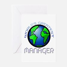 World's Greatest Manager Greeting Cards (Package o
