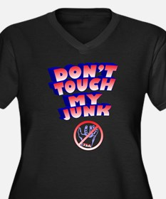 Don't Touch My Junk Women's Plus Size V-Neck Dark