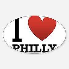 I Love Philly Sticker (Oval)