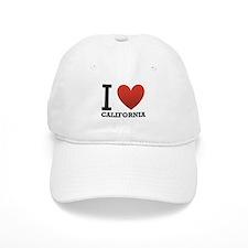 I Love California Baseball Cap