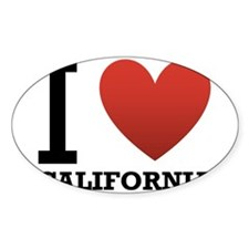 I Love California Decal
