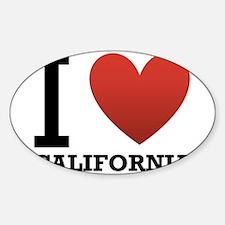 I Love California Sticker (Oval)