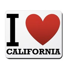 I Love California Mousepad